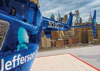 Jefferson, Helicopter on Hospital Helipad