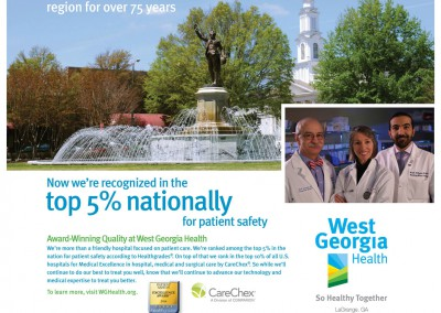 West Georgia Health, Quality Care, Print Ad