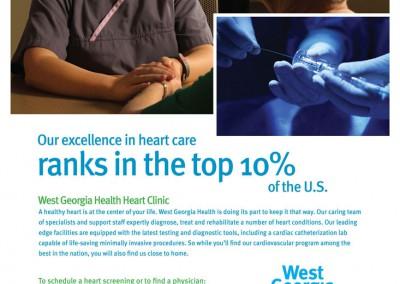 West Georgia Health, Cardiology Service Line, Print Ad