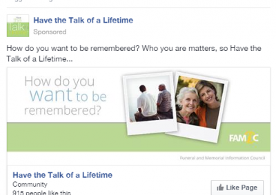 Have the Talk of a Lifetime, Facebook Like Campaign