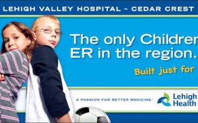Lehigh Valley Hospital, Children's Emergency Room Billboard