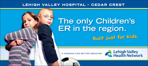 Lehigh Valley Hospital, Children's Emergency Room Billboard