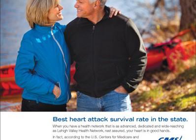 Lehigh Valley Hospital, Cardiology Service Line Print Ad
