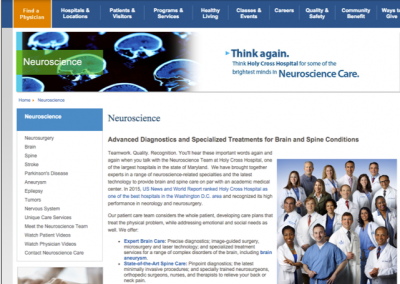 Neuroscience Landing Pages